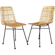 Elia Lot De 2 Chaises En Rotin Naturel