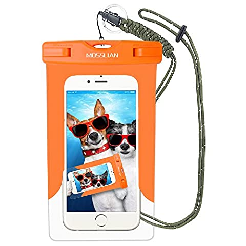Wasserdichte Handyhülle: MOSSLIAN Wasserfeste Handy Hülle Tasche Smartphone bis 6