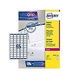 Avery L7651-100 Mini Etichette, 65 Pezzi per Foglio, 100 Fogli, 38.1 x 21.2, Bianco