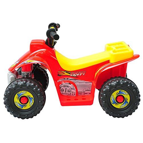 elektrisches kinderfahrzeug Homcom Kinderauto Kinderwagen Elektroauto Kinderfahrzeug Kindermotorrad Quad Elektroquad Kinderquad Elektromotorrad (Elektroquad/rot-gelb)