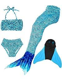 Superstar88 Mädchen Cosplay Kostüm Badebekleidung Meerjungfrau Shell Badeanzug 3pcs Bikini Sets Tolle Geschenksidee !