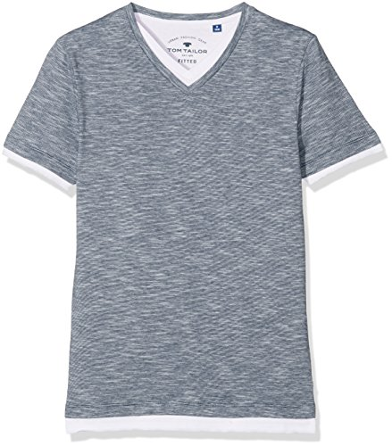 TOM TAILOR Kids Jungen T-Shirt Underlayered Stripe Mix Tee
