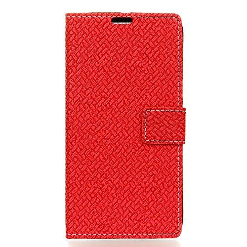 Sharp Aquos Ever SH-02J - Protector New Wallet Style Flip Cover Case for Sharp Aquos Ever SH-02J Only (Sharp Aquos Ever SH-02J Cover Red) - Aquos 42