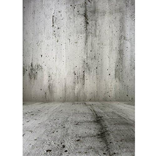 Plat Firm Zement-Grauer Mörtel-Wand-Fotografie-Studio-Vinylhintergrund 1.5x2.1M 5x7FT