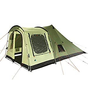 51xPL%2BMcNTL. SS300  - 10T Outdoor Equipment Unisex's Tropico 4 Tunnel Tent, Green, One Size/4 Persons