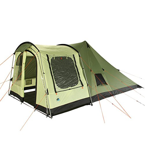 51xPL%2BMcNTL. SS500  - 10T Outdoor Equipment Unisex's Tropico 4 Tunnel Tent, Green, One Size/4 Persons
