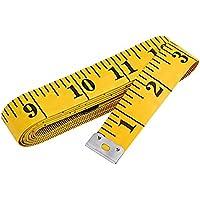 """300cm/120""""double-scale cinta suave medir la pérdida de peso médica cuerpo medición regla de costura Tailor gamuza, amarillo"""