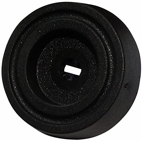 4,4 Mm, Schwarze Spitze (Aerzetix: 4x runden Pads Füße PE H: 4.4mm Ø15.7mm Möbel. Ein Anzug mit Bolzen. schwarz)
