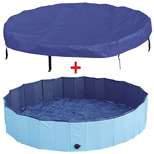 Aktion! Doggy-Pool + Abdeckung 120c m Plaschbecken Pool Swimming Pool