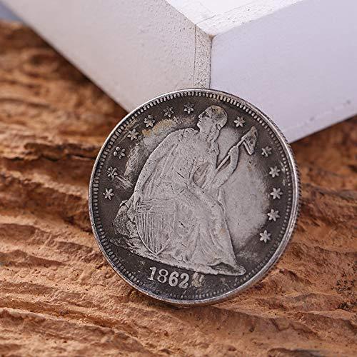 Leaftree Round Year American Silbermünzen Gedenksammlung Handwerk Dekoration -