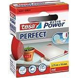 tesa extra Power Perfect - Vävförstärkt tejp för hantverk, reparation, fästning, förstärkning och markering vid målningsarbet