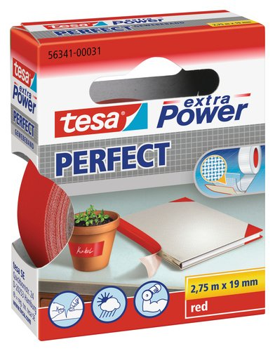 Tesa extra Power Gewebeband 19mm x 2,75m rot