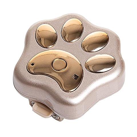 Pet GPS Tracker Halsband WiFi Hund Antiverlust Gerät Pet Locator rf-v30Smart blinkender LED Elektronische Micro wasserfest Sicherheit Alarm Hund finder Locator, Gold without package