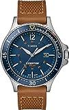 Timex Herren Analog Solar Uhr mit Leder Armband TW4B15000