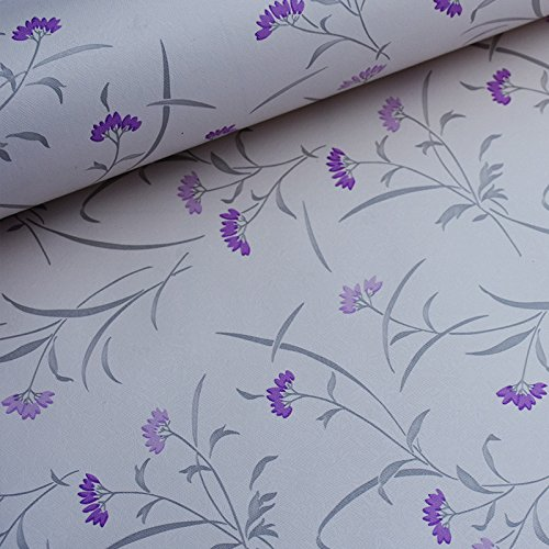 Zhzhco Selbstklebende Pvc-Klebstoff Wallpaper Wallpaper Wallpaper Schlafzimmer Wohnzimmer Farbe Lavendel Am Ende Des 10 Meter Langen