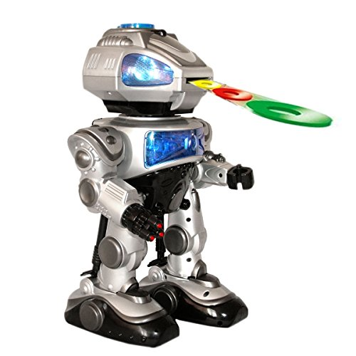 Playtech-Logic-Walking-Fighting-RC-Robot-Programmable-Kids-Toy-Robot-with-Sound-Effects-and-Lights-Large-38cm-Walking-Shooting-Remote-Control-Robot-Shoots-Frisbees-Walks-Glides-Dances-PL9031