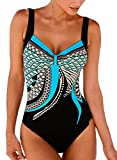 Happy Sailed Womens Multicolored Tribal Print 1 Piece Swimsuit