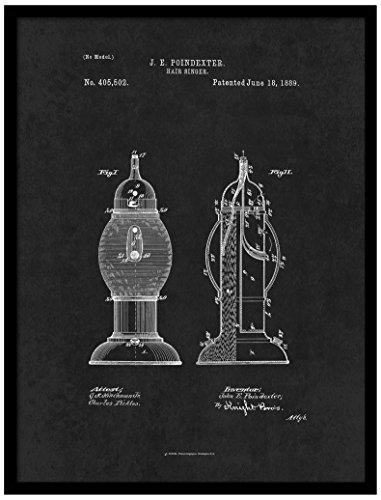 Spot Farbe Art patent150034bk-79bk 1889Barber Hair Desinfektionsmittel, 17,8x 22,9cm