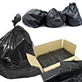 Black Bin Bags Medium Duty Refuse Sacks 200 Black Bin Bags Per Case 100% Recycled Ideal 365