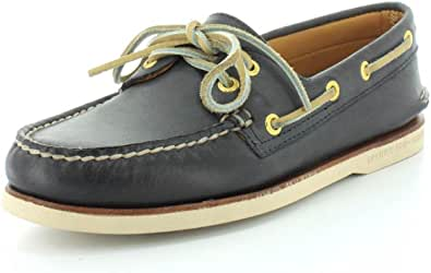 Sperry Top-Sider Gold a/o 2Eye Boat Shoe Navy
