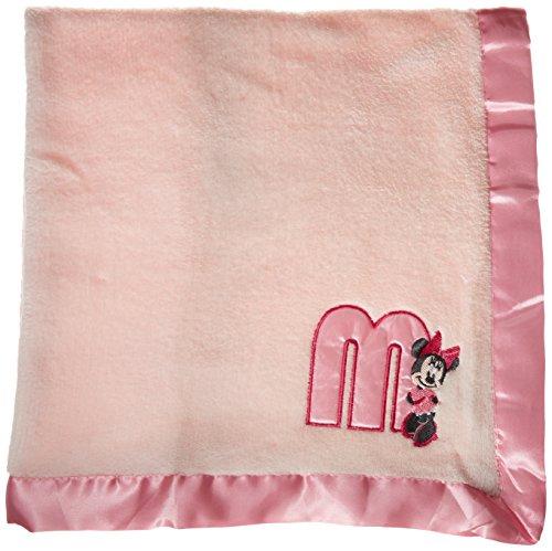 Disney Minnie Maus Plüsch Satin Trim Baby Decke, Rosa (Baby Decke Trim)