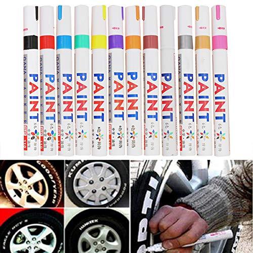 Mysticall 12 unids Car Moto Auto Paint Pen Neumáticos