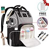 Nappy Changing Backpack, Waterproof Multi-Function Large Capacity Diaper Bag Backpack for Mom/Dad