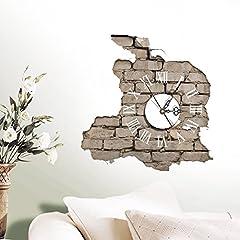 Idea Regalo - LifeUp- Orologio da Parete Moderni Design silenzio Numeri Romani, Adesivi Murali 3D Decorazioni Soggiorno Camera da Letto Casa, Regalo Originale Natale Compleanno, 39*38cm