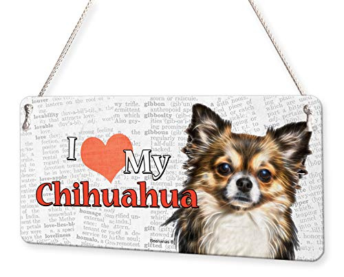 Beenanas Metallschild Chihuahua Dog I Love My Pet
