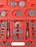 Bremskolbenrücksteller KFZ Bremsscheiben Bremsbacken Set inkl. Koffer und 21 Adaptern Bremsenrücksteller Werkzeug Rücksteller