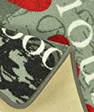 Hanse Home 102084 Teppichläufer, Polyamid, grau / grün, 67 x 180 x 0.8 cm - 3