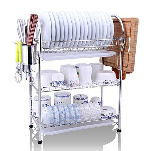 étagère de rangement Rack bol en acier inoxydable / Rack Double Bowl / Cuisine Shelf Étagère d'armoire ( Couleur : # 2 )