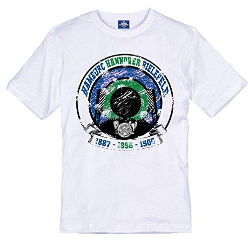 Volkspark Hamburg Streetwear Herren T-Shirt HH Hannover Bielefeld (Weiss, XXXL)