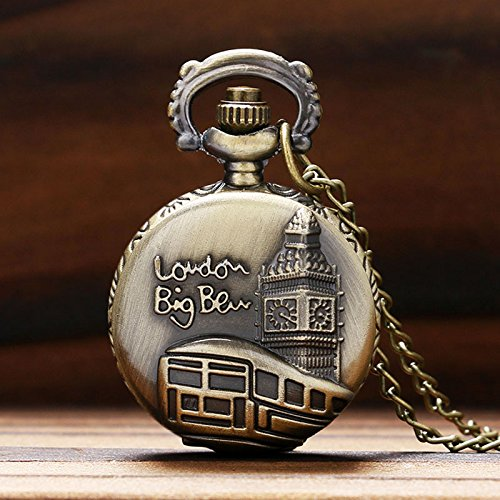 bronze London Big Ben Pattern pocket watch men women UK Watches relogio P575