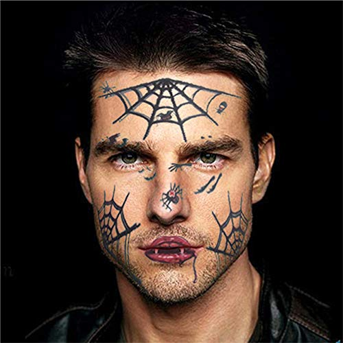 poräre Face Art Wasserdichte Maske Zucker Schädel Tattoo Beauty Sticker (E) ()