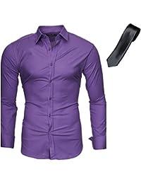 KAYHAN Herren SlimFit Hemd im Set mehrere Farben zur Auswahl