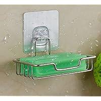 Super Potente Adhesivo baño organizador de almacenamiento de caja de jabón soporte de pared para