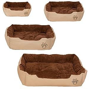 TecTake Lit douillet pour chiens panier corbeille couchage brun - diverses tailles au choix -
