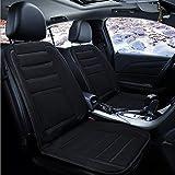 QLL Sitzheizung, beheizbare Sitz-Auflage 12V fürs Auto zum Nachrüsten, schnelle, angenehme Wärme, Das universal Heiz-Kissen ist schnell montiert,Black