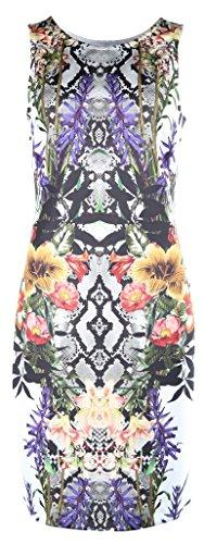 Joseph Ribkoff Snake/Floral Pattern Sleeveless Dress Style 173712 Size 12