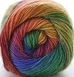 RoseColor Hand gefärbt Farbverlauf Wolle Garn-Rainbow