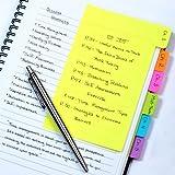 Redi-Tag Notes adhésives, 60notes lignées, 10,2x15,2cm, couleurs neon assorties 1 pièce coloris assortis