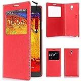 VCOMP Etui Housse Coque Flip Cover View Compatible pour Samsung Galaxy Note 3...