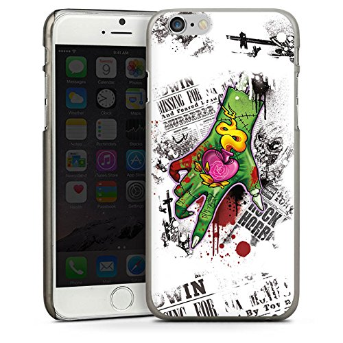 Apple iPhone 5s Housse Étui Protection Coque Tatouage Zombie Zombie CasDur anthracite clair