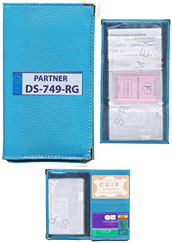 Schutzhülle Leder Tür-Papier, hellblau, grau) Führerschein mit der Zulassung zum Selbstgestalten