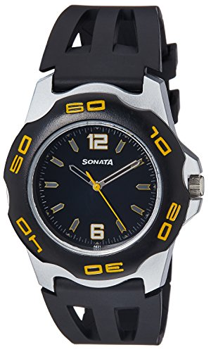 Sonata Analog Black Dial Men's Watch - NF7929PP02J image