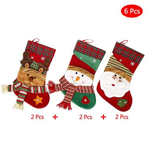 Xyxmas 6 PCS Navidad Media Regalo Bolsa De Árbol