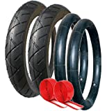 PUSHCHAIR TYRE AND TUBE SET DOUBLE PUNCTURE PROTECTED SUITABLE FOR QUINNY BUZZ, URBAN DETOUR, OUT N ABOUT NIPPER, AND MANY OTHER MAKES AND MODELS