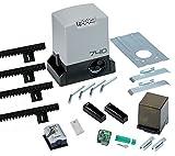 FAAC 740 Télécommande Kit Delta 2Portail coulissant portée 500kg 230V + 4m Crémaillère