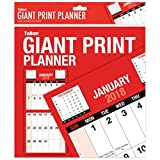 2018 Giant Print Month To View Bound Wall Planner Calendar - Home Office Work